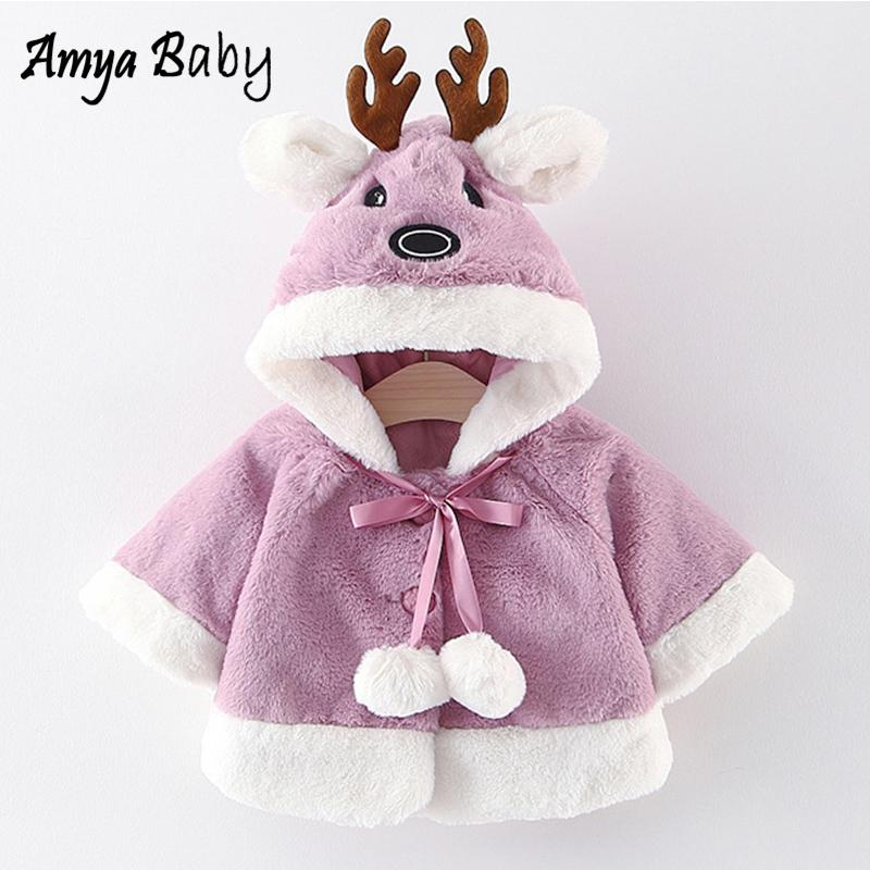43a23af78 AmyaBaby Infant Coat Cartoon Hooded Warm Baby Girl Winter Jackets ...