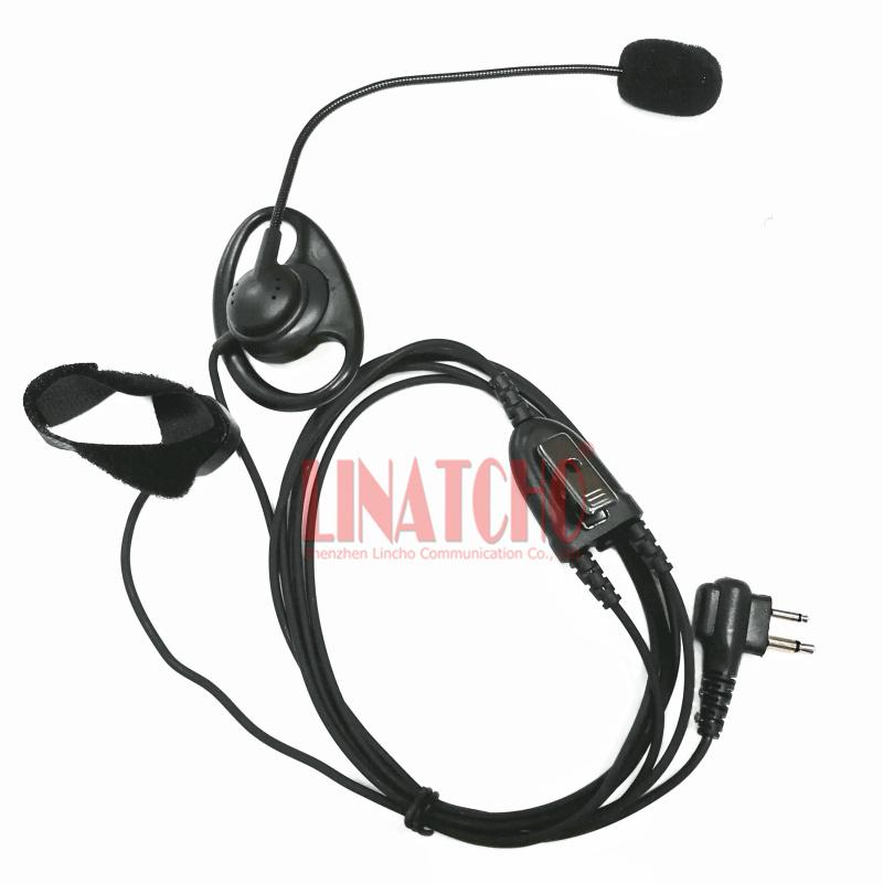 2 pins Motorola A8 GP88S GP68 GP2000 GP300 walkie talkie hands free ear stick bar mic headset