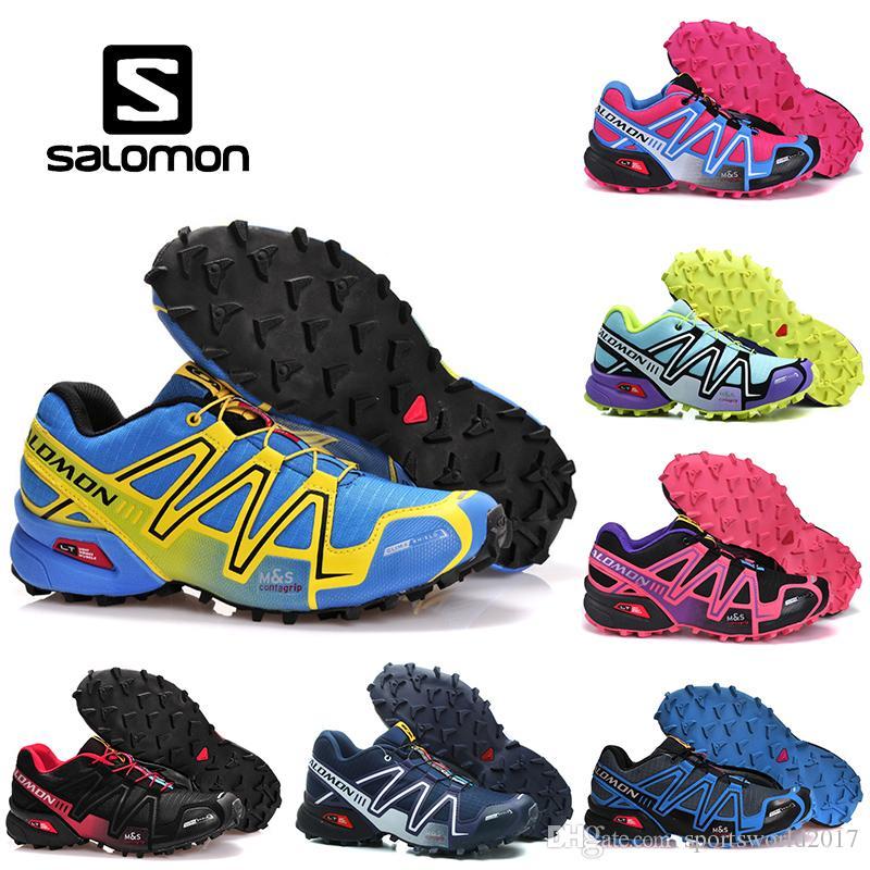 d1b9af246d415 2019 Salomon Speedcross 3 CS Athletic Shoes Mens Women Speed Cross III Pink  Black Green Purple Outdoor Running Hiking Sports Sneakers 36 46 From ...