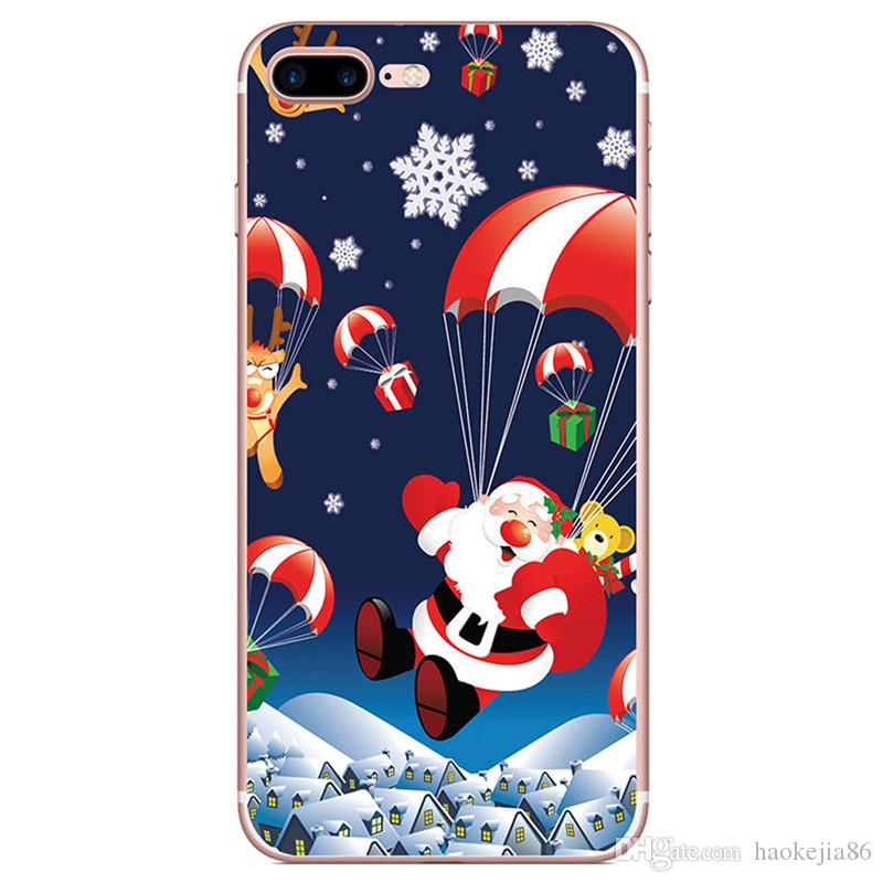 Christmas Gift Soft TPU Silicone Case For iphone XS MAX XR X 8 7 Plus 6 6S SE 5 5S Santa Claus Hat Tree Snow Snowman Owl Gel Phone Cover