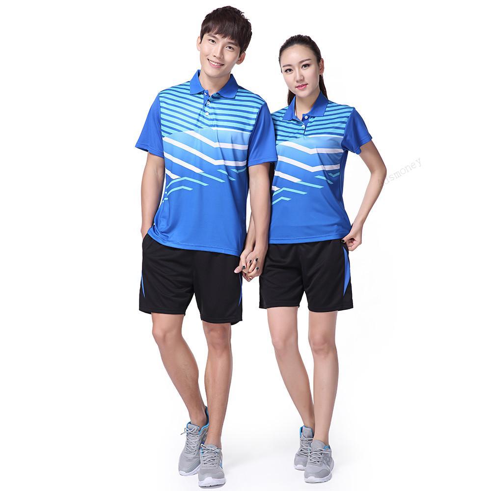 1cf52a334 Adsmoney Badminton Suit Shirt with Shorts Men Women