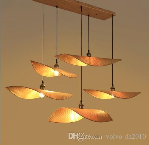 Appareils D Bambou Teahouse En Pendentif Éclairage Moderne Lampe Lustre Chinois Nouveau Llfa Zen Thaïlande Bois Antique Japonais shxtdCQr