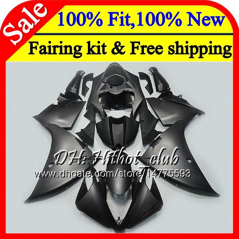 Matte black Injection Bodys For YAMAHA YZF 1000 YZF R 1 YZFR1 13 14 100HT1 YZF-1000 YZF R1 13 YZF1000 YZF-R1 2013 2014 Fairing Bodywork