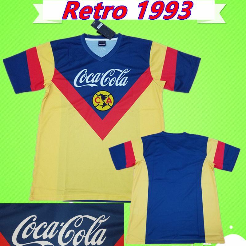 purchase cheap 93326 04b0d America CA Soccer Jersey Retro 1993 1994 football Shirt Vintage Classic  commemorate antique Collection 93 94 uniform LIGA MX Club mexico