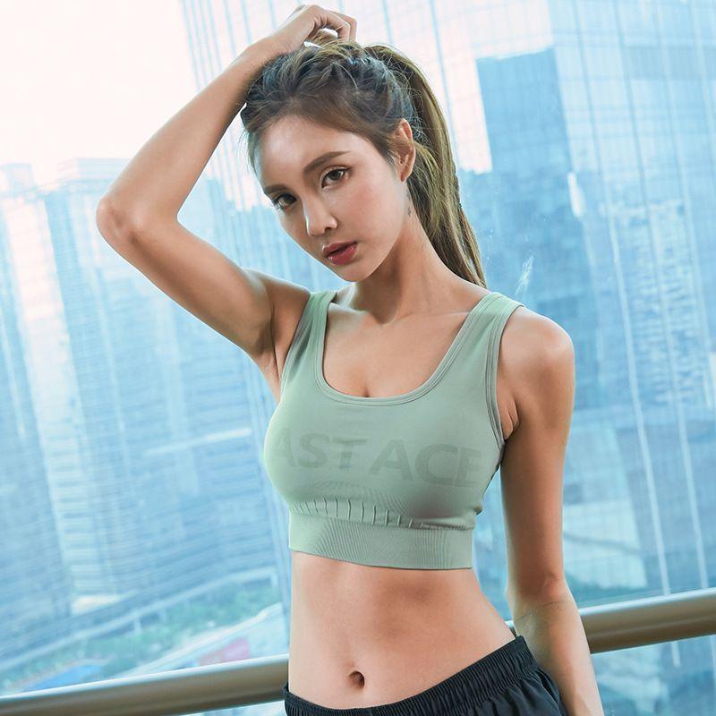 b985bc74dccab 2019 2019 New Womens Sport Bra Fitness Yoga Running Vest Underwear Padded  Crop Tops Underwear No Wire Rim Female Gym Top Bras From Ahaheng