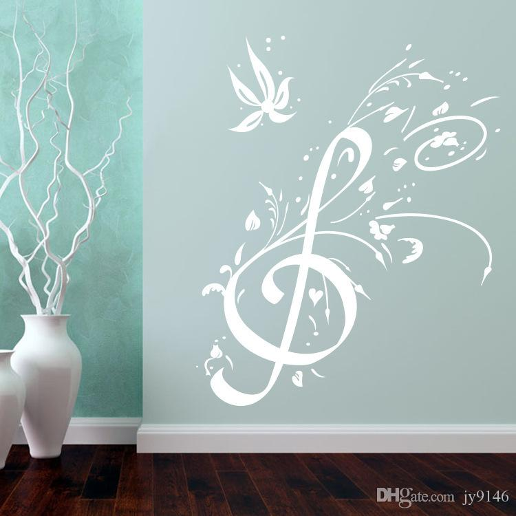 Creative Music Notes Wall Decals Diy Pvc Music Wall Art For Recording Studio Living Room Decoration Removable