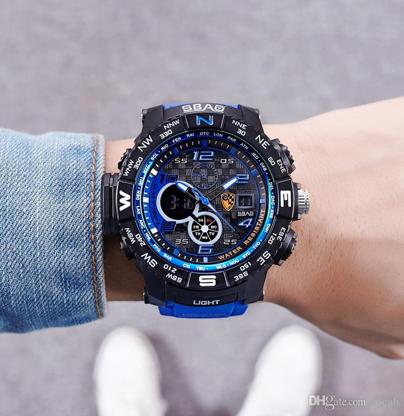 b222f8d4ac15 Compre 2018 AAA Nuevo Reloj Hombres Relojes Deportivos Hombres De Lujo  Analógico Digital Ejército Militar Deporte LED Reloj De Pulsera Impermeable  Relogio ...