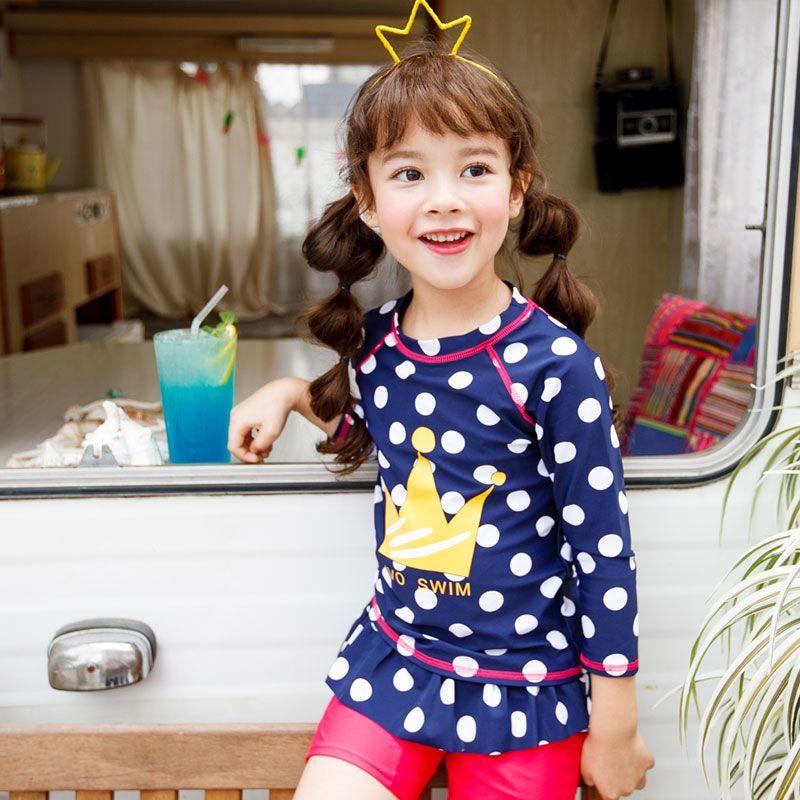 36097c1d23eb8 vivo-biniya Girls Long Sleeve Rash Guard 3-10 Years, UPF 50+ Sun UV  Protection Swim Shirt Trunks Cap Kids Swimwear