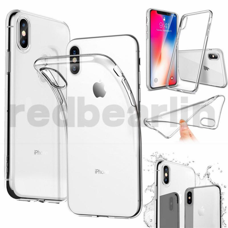 100pcs Clear Soft TPU Case For Iphone 8 Transparent Crystal Cell Phone Skin Cover case for iphone 8