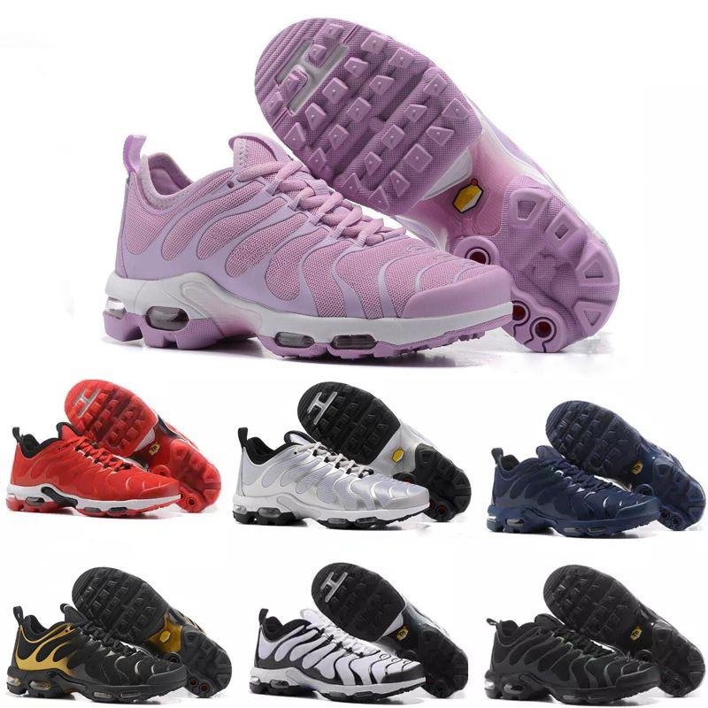 pretty nice 46697 ae861 Compre Nike TN Plus Vapormax Air Max Airmax 2018 Nuevas Zapatillas TN Para  Mujer Negro Rojo Blanco TN Ultra KPU Zapatillas De Deporte De Superficie De  Cojín ...