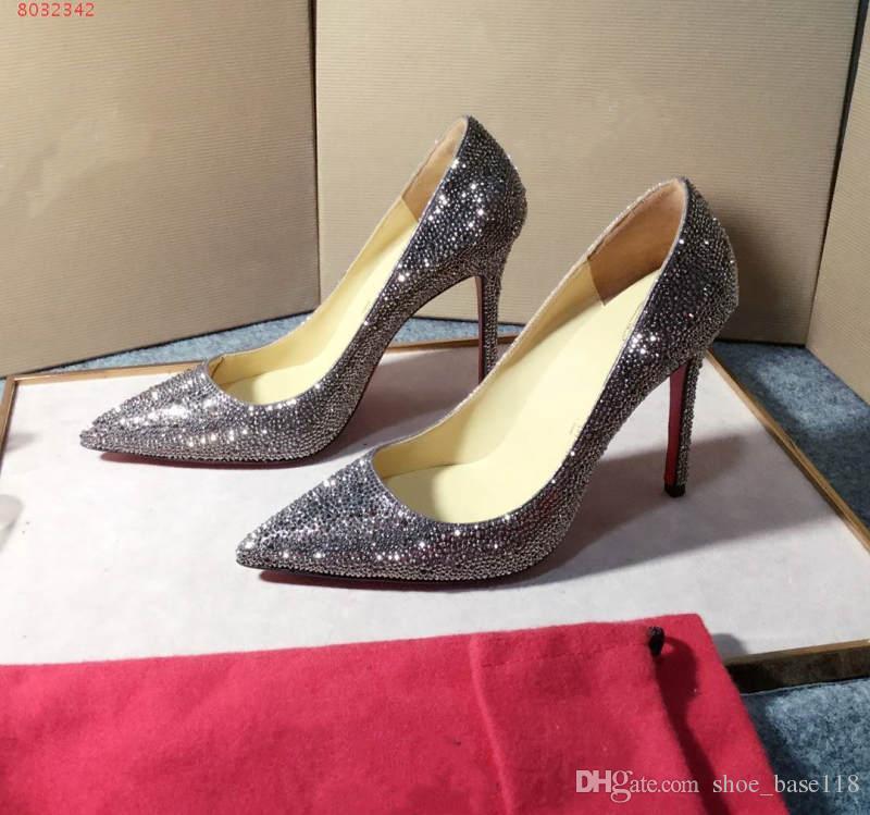 41c8f93bf Compre As Últimas Mulheres Low Cut Sapatos De Salto Alto, Comprar Sandálias  De Cristal, O Fundo Do Vermelho, Altura Do Salto 8,5 Centímetros De  Shoe_base118 ...
