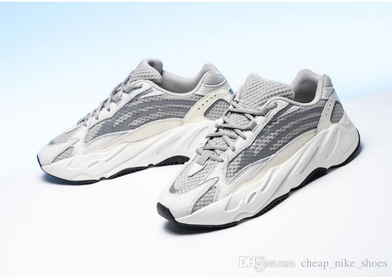 ff03ed0b8 2019 2019 New 700 V2 Static White Grey Running Shoes Kanye West Women Men  700s Myzeeya Sports Sneakers Night Reflective Sending With Box From ...