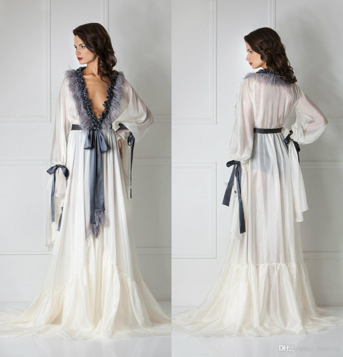 0c27364f30c8 2019 Silk Bathrobe For Women Cuff Full Length Lingerie Nightgown Pajamas  Sleepwear Women S Luxury Dressing Gowns Housecoat Nightwear Lounge Wear  From ...