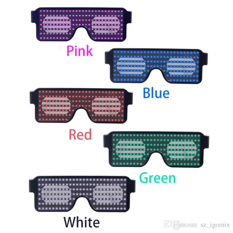 a962fa485c Compre Neon 8 Modos Gafas LED Luz Brillante Novedad Luz Festival Fiesta  Gafas De Sol Luz LED Decoración Del Partido A $13.99 Del Sz_igomix |  DHgate.Com