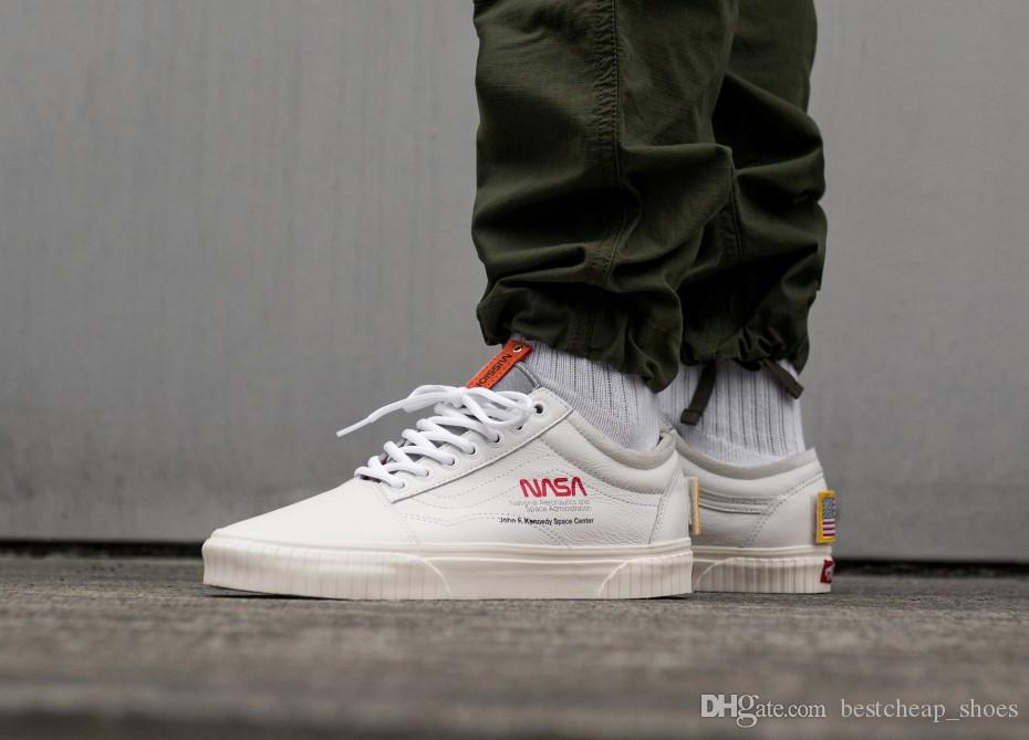 d0af3a5aa9d7 2019 NASA X Vans Space Voyager Old Skool Men Casual Shoes Skate Canvas  Sports Mens Running Shoes Vans Designer Sneakers Trainer Size 36 45 From ...