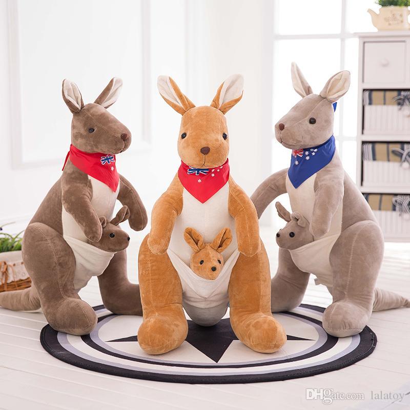 figlio bambola giocattolo All'ingrosso e Kangaroo peluche madre Australian Pw8knX0O