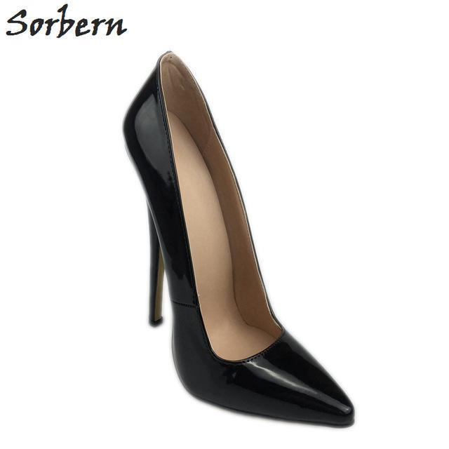 Compre Sorbern Sexy Negro De Charol Spike Heel Zapatos De Mujer Punta  Estrecha Slip On 18Cm Stiletto Tacones Altos Diseñador Tacones Primavera  2018 A  75.38 ... 3b47233abe5b