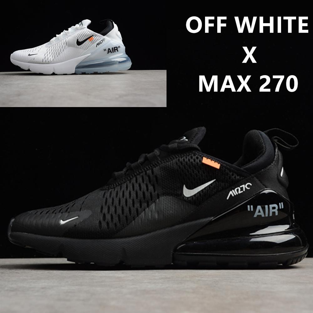 separation shoes 48fc9 3b07d Off Airs Top 270 Triple Black All White Maxes Men and Women 97 Vapors  Running Shoes Sport Trainers 95 Sneakers