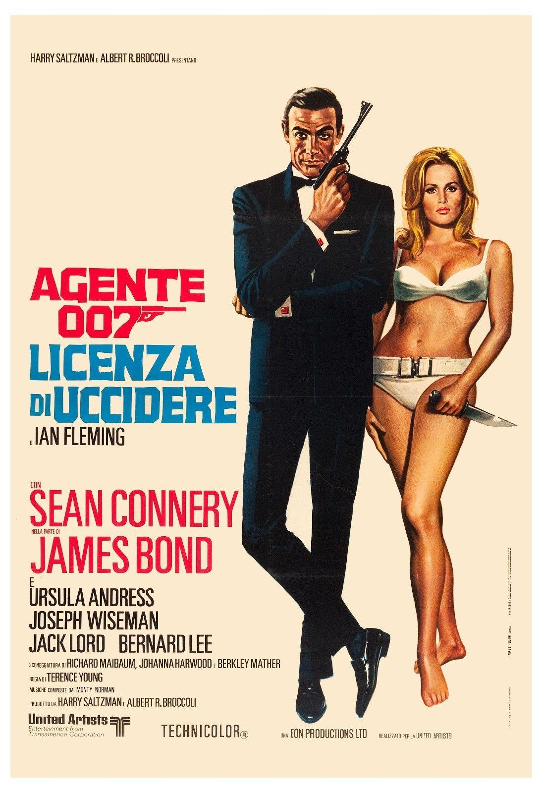 2019 james bond dr no sean connery italian r 1972 large format art silk print poster 24x36inch60x90cm 019 from chuy8988 10 93 dhgate com