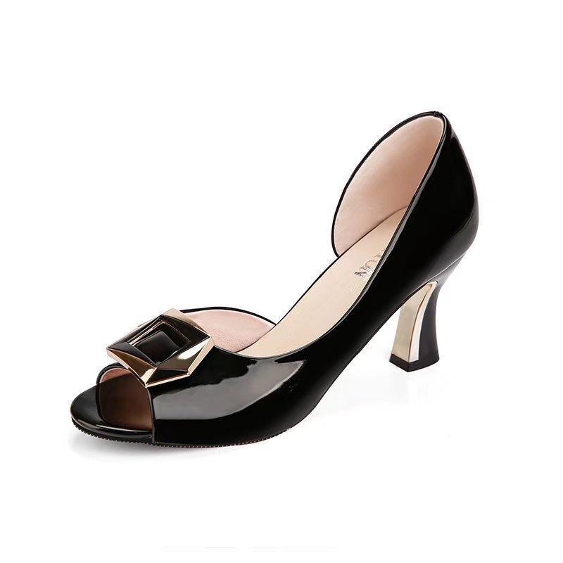 7979eb06de Compre Vestido Verão Novas Mulheres Bombas Sandálias Sapatos De ...