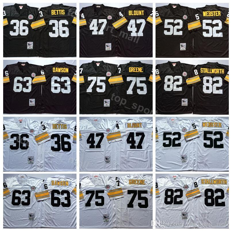 2c5f2c881e0 Pittsburgh 36 Jerome Bettis Jersey Steelers Vintage Football 47 Mel Blount  52 Mike Webster 63 Dermontti Dawson 75 Joe Greene 82 Stallworth UK 2019  From ...