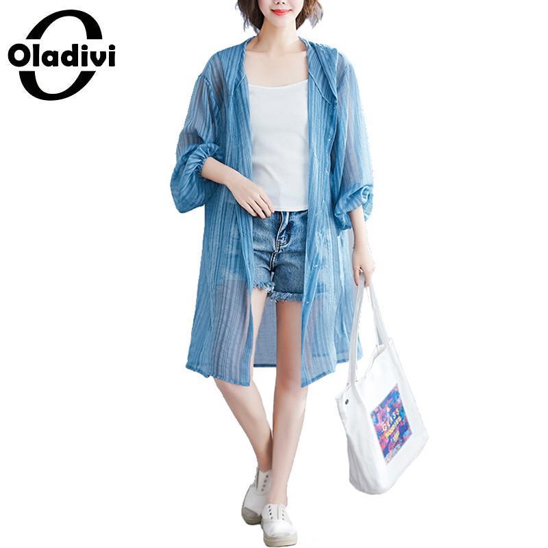 0ae6c40f25d5 Oladivi Tallas grandes Mujer Blusa de moda Camisas Kimono largo Cardigan  Blusas Playa Prendas de abrigo Verano Protección solar Cubiertas superiores