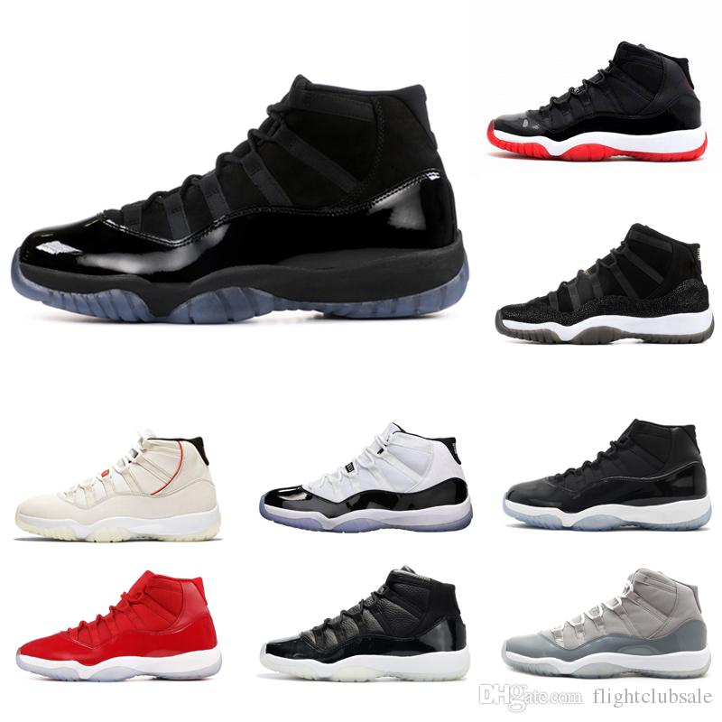 Wholesale 11 Prom Night Platinum Tint Midnight Navy Black Stingray Bred Concord Space Jam Shoes 11s Mens Womens Kids Basketball Sneaker
