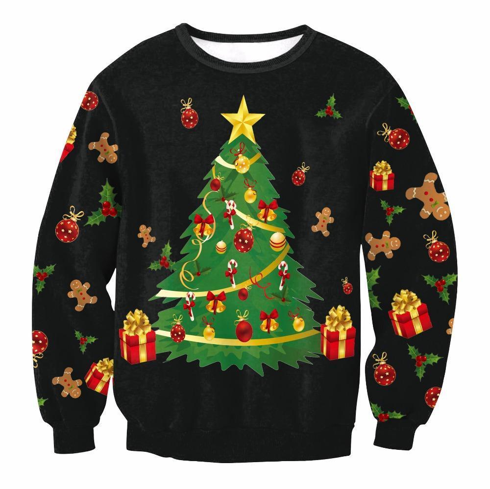 nuovi stili 0a27e 8c3f5 Natale Patton Maglione Babbo Natale Carino Print Pullover Maglione  Ponticello Outwear Modelli da donna di renne Pupazzo di neve Natale