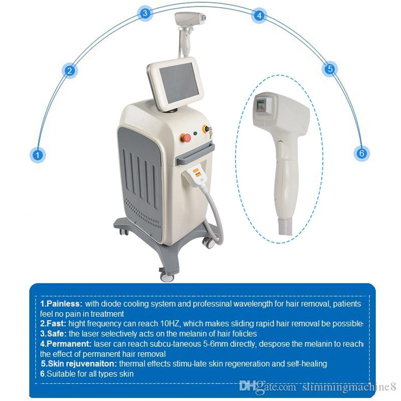 Good effect Diode Laser hair removal depilation machines 808nm laser diode machine all skin types laser treatment price low