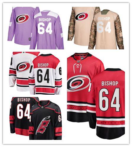 new styles cec6b f9ae4 Carolina Hurricanes jerseys #64 Clark Bishop Jersey hockey men women youth  Authentic Black Alternate red home white away Stiched Jerseys