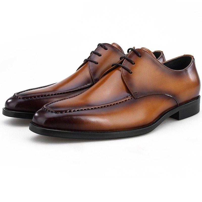 detailed look c861e 51424 Qualität Schwarz / Braun Formal Business Schuhe Aus Echtem Leder Hochzeit  Schuhe Herren Kleid Schuhe