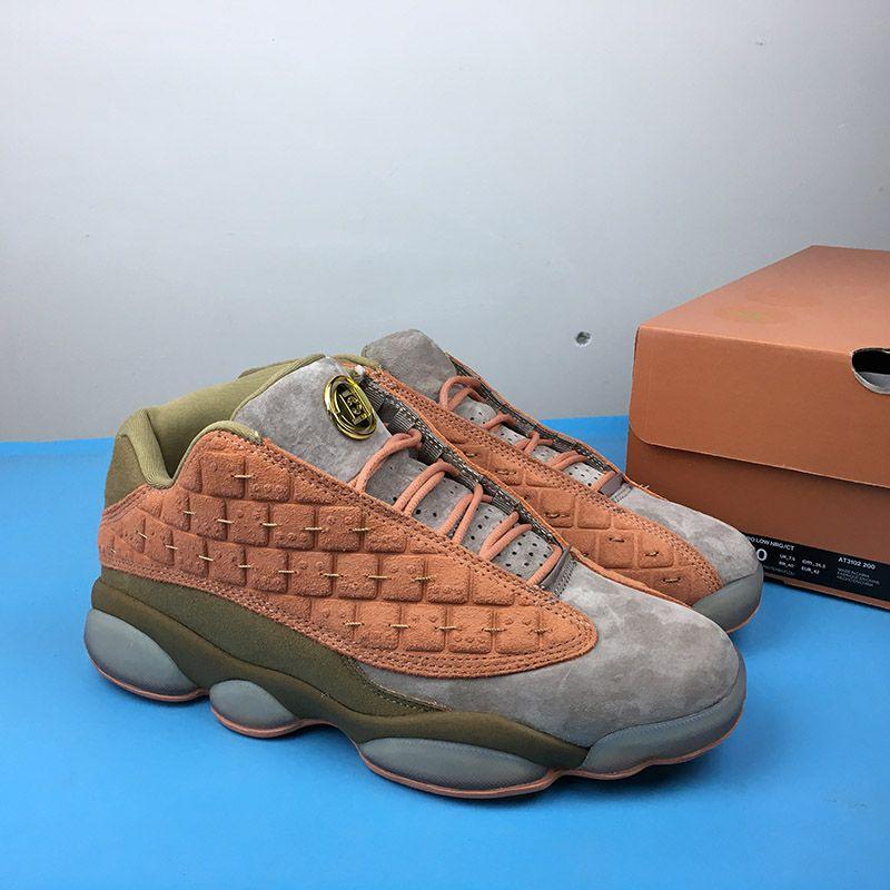 0f69f58df497 2019 Unique Design Metallic Gold Clot X Jumpman 13 Low Sepia Stone Canteen  Terra Blush Men Women Basketball Shoes Designer Sports Sneakers From ...