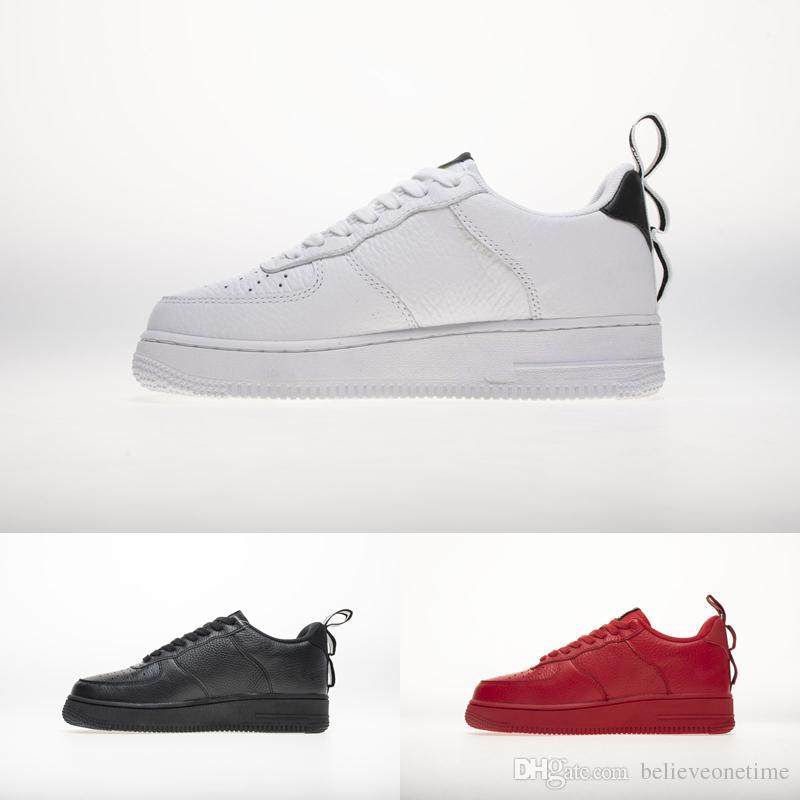 Dettagli su 2019 Air Force 1 07 LV8 Utility Scarpe uomo nero bianco scarpe sportive 36,45