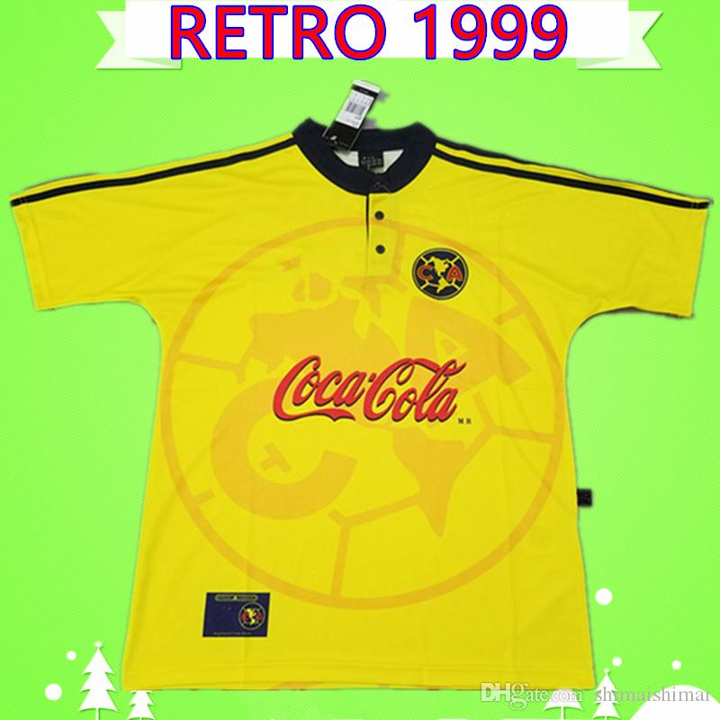 new styles 9a515 f51b2 America CA Soccer Jersey Retro 1999 2000 football Shirt Vintage Classic  commemorate antique Collection 99 00 uniform LIGA MX Club mexico
