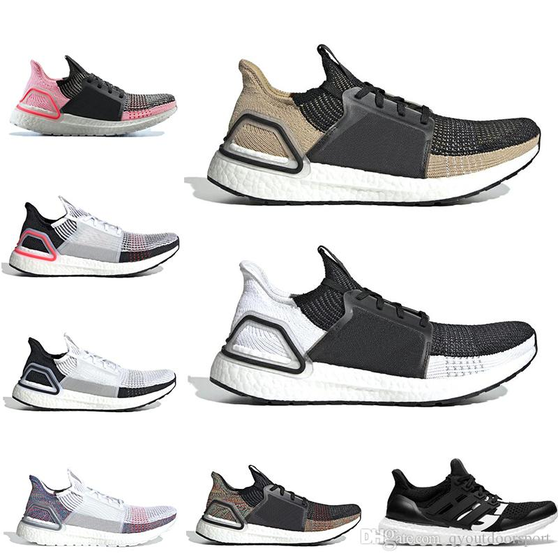 2019 Ultra boost 19 undefeated running shoes for men women Cloud white black ultraboost mens trainer breathable runner sports sneakers 36 45