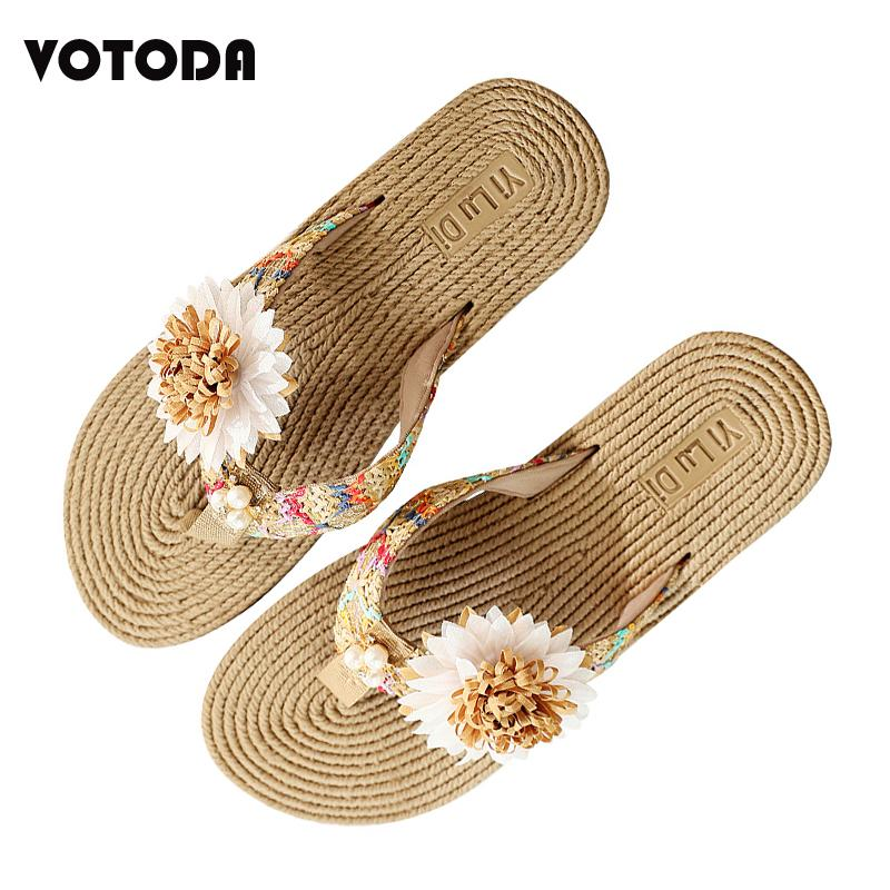 premium selection b954a cfad7 Pantofole da donna di lusso a ciabattine di paglia di lusso moda estate  2019 Pantofole delle scarpe da donna con fiori scivolati su pantofole  piatte ...