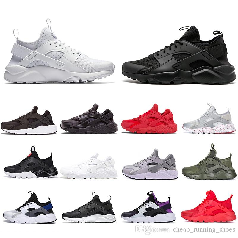 With Box Triple White Black Huarache 4.0 1.0 Running Shoes Classical red men women Huarache Shoes Huaraches Trainer sports Sneakers 36-45