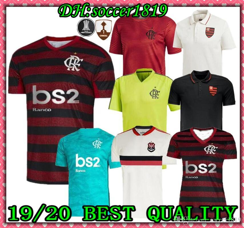 19 20 flamengo jersey 2019 Flemish DIEGO Soccer Jerseys Flamengo home red black sports Brazil football shirt AWAY Tank Top POLO WOMEN