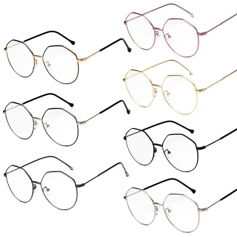 New Style Optical Glasses Geometric Myopia Frame Clear Lens Spectacle Eyeglasses