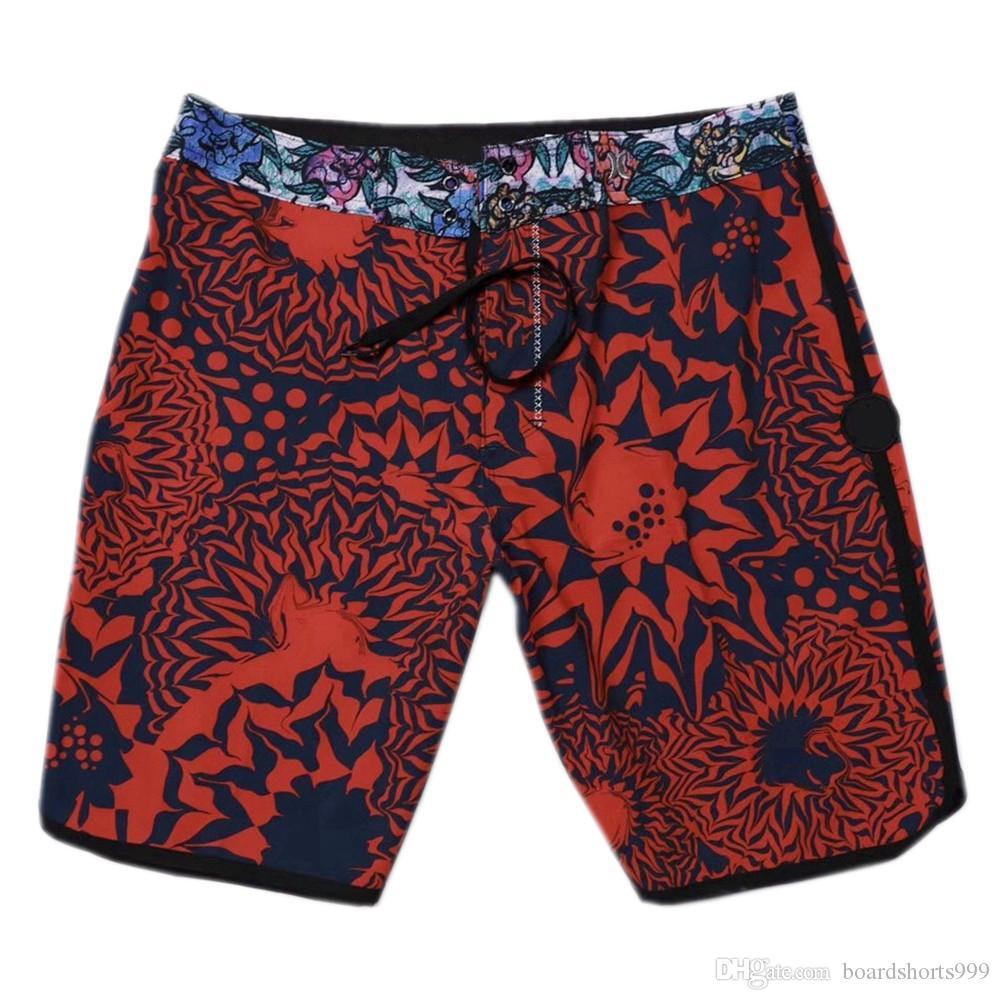 390b39f66e6ab NEW 4-Way Stretch Surf Shorts Mens Boardshorts Elastane Spandex Beachshorts  Quick-dry Swim Trunks Beach Pants Bermudas Shorts Casual Shorts