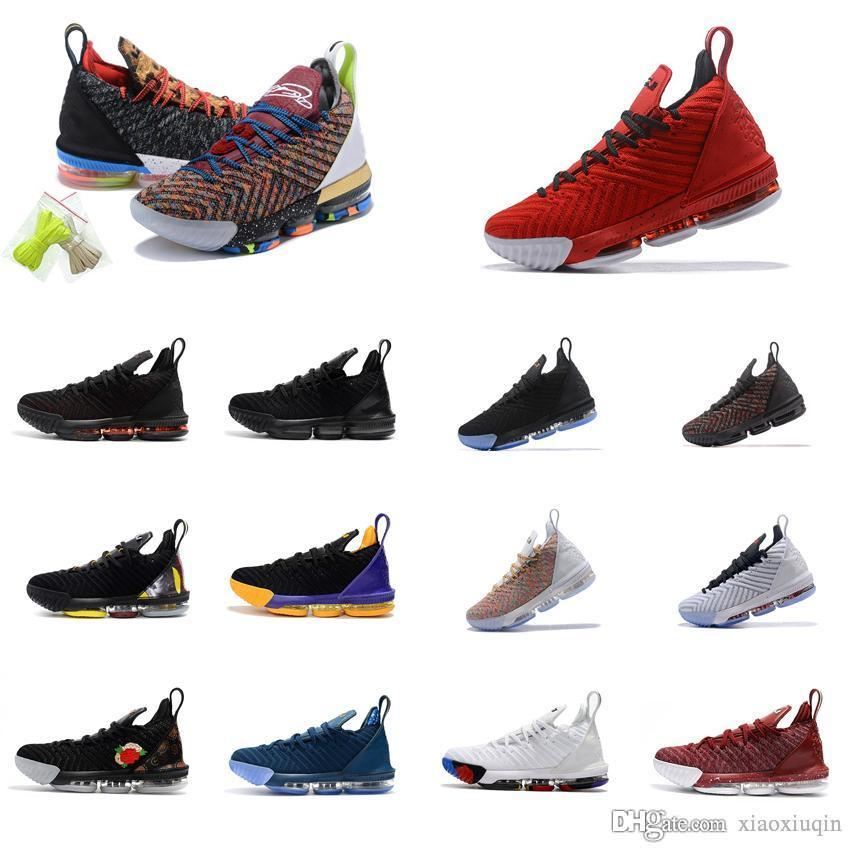 9cf606b3ff3 2019 Cheap What The Lebron 16 Mens Basketball Shoes For Sale 1 Thru 5  Floral MVP Christmas BHM Oreo Youth Kids Generation Sneakers Boots With Box  From ...