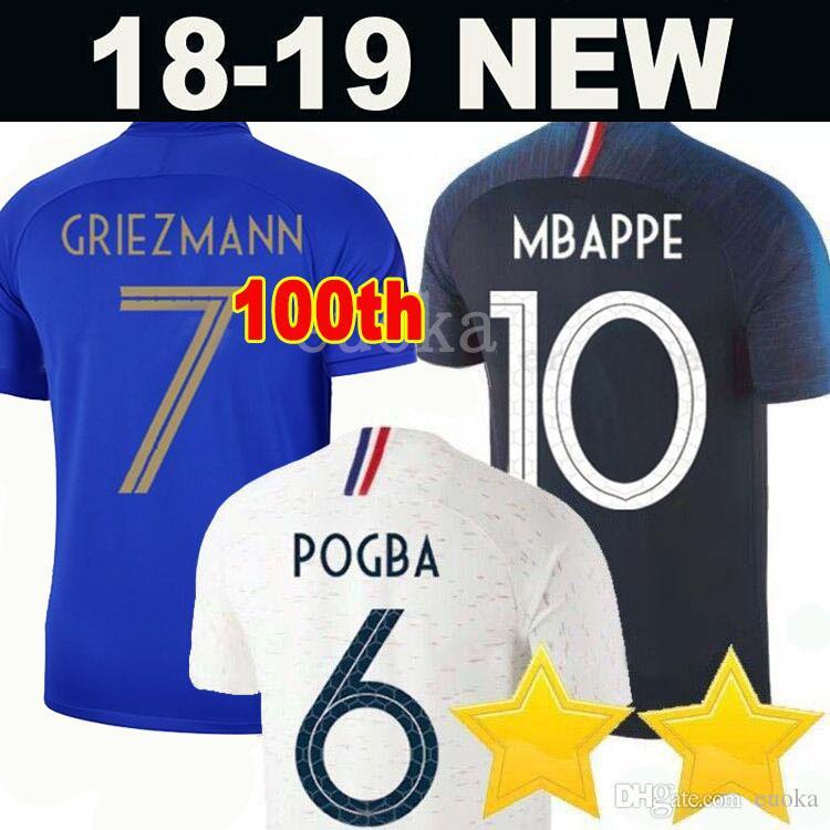 a3a87c27d3 Acheter France Soccer Jerseys Football Shirt 2 Étoiles Two Stars Francais  Maillots De Football 2018 Coupe Du Monde Maillot De Foot Equipe Griezmann  Pogba ...