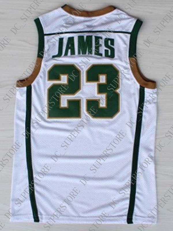 best cheap c09a9 d35e1 Cheap wholesale Lebron James 23 St Vincent St Mary Irish High School  Stitched Basketball Jersey Customize any name number MEN WOMEN YOUTH