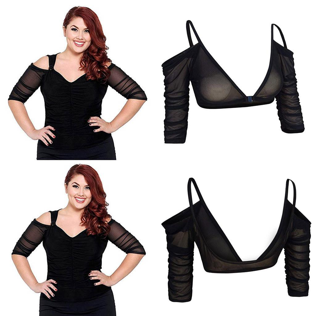 59e506342a 2019 CHAMSGEND Shaper Both Side Wear Sheer Seamless Arm Sleeve Shapewear  Sexy Crop Tops Slimming Control Plus Size Mesh Shirt 14DEC30 From  Chivalife