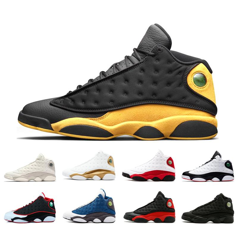 quite nice 0f525 8e3f3 New 2019 13 13s Men Basketball Shoes Melo Class Of 2003 Chicago Hyper Royal  Black Cat Bred Dmp Mens Sports Sneakers Size 40-47