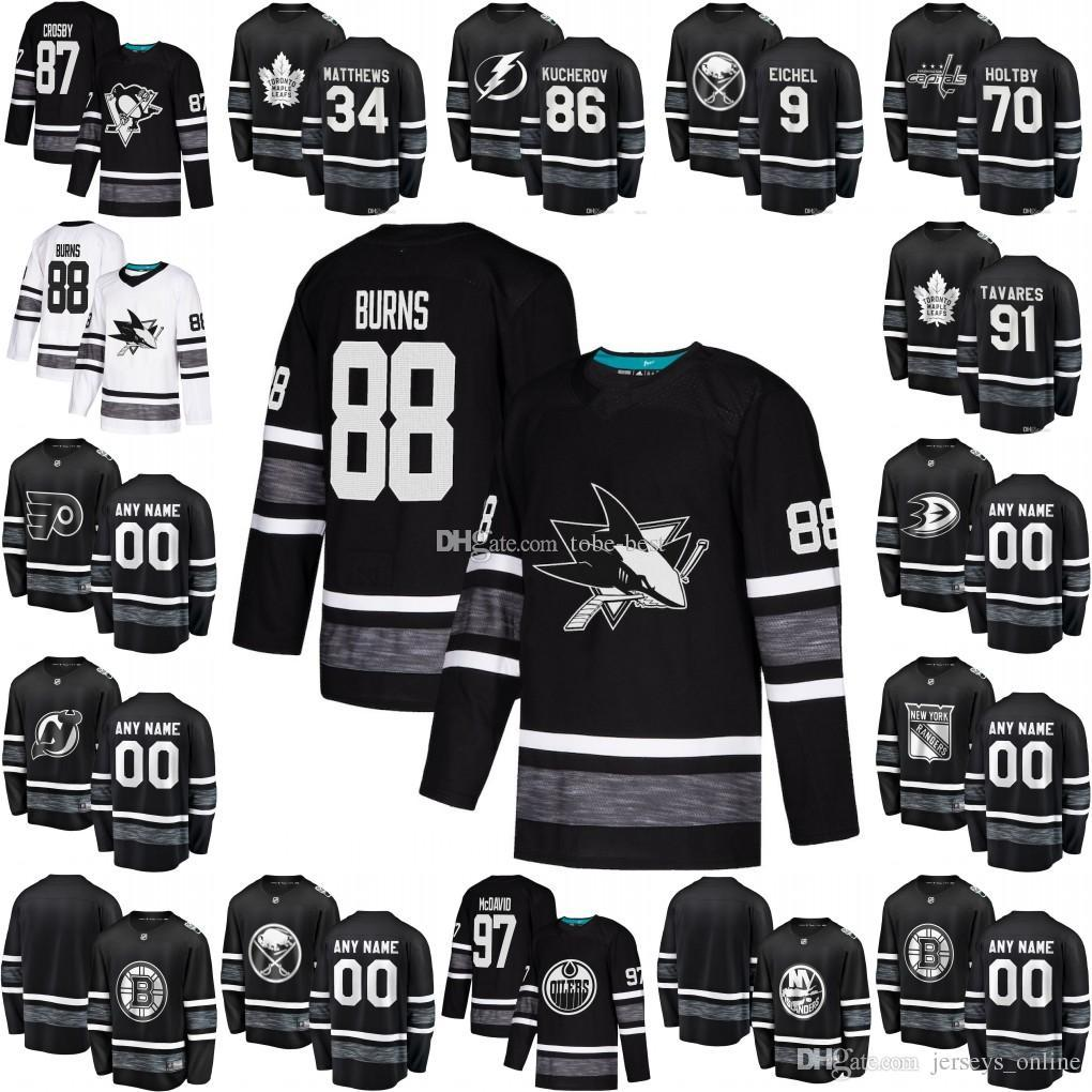 4b445df1c 2019 NHL All Star Hockey Jersey Connor McDavid David Pastrnak Joe Pavelski  Brent Burns Henrik Lundqvist Sidney Crosby Patrick Kane Black Basketball  Jersey ...