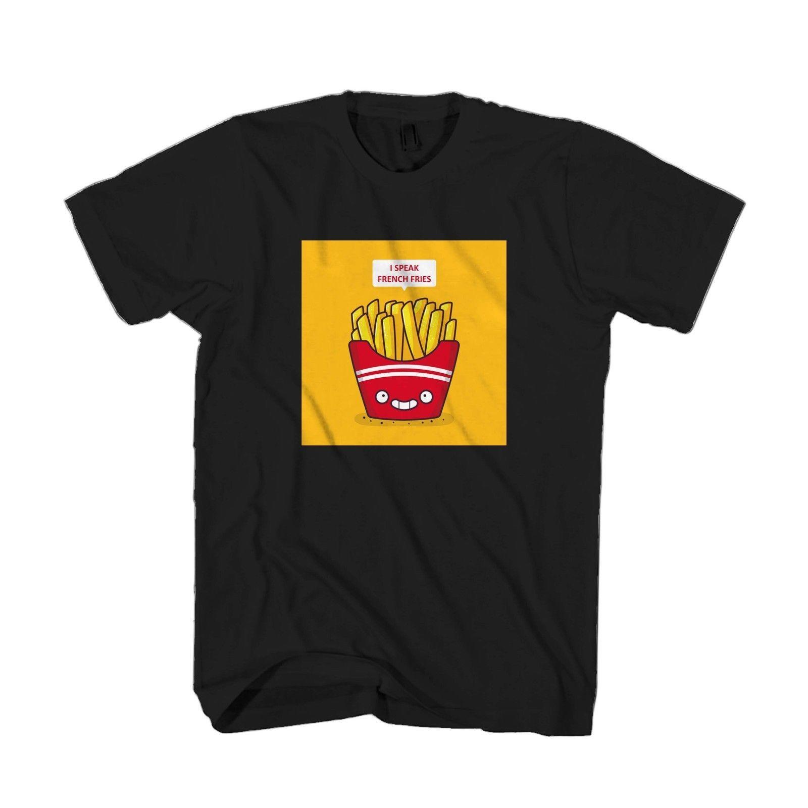 I Speak French Fries Cartoon Food Lovers Men & Women T Shirt T Shirt