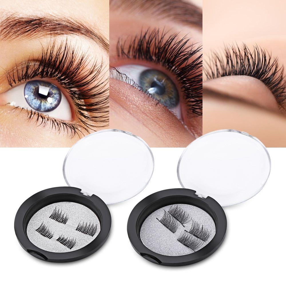 b83852da193 3D Magnetic False Fake Eyelashes Natural Handmade Eyelash Extension Magnet  False Eye Lashes Eyes Beauty Makeup Tool BB Eyelash Extension Course Eyelash  ...