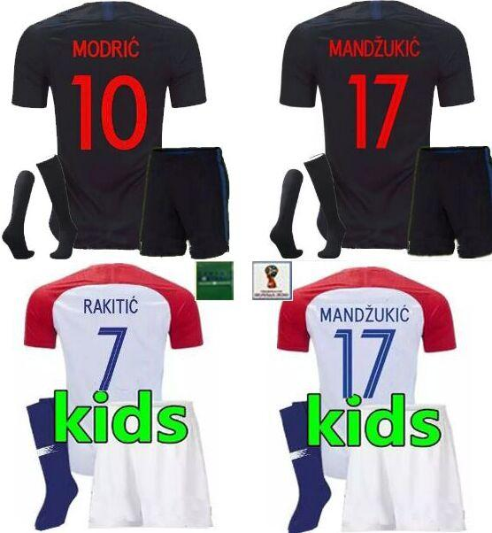 the latest a7d1b 82cf9 Croatia youth boys Modric kids jerseys,Hrvatska patches socks RAKITIC Lad  Croatian youth Croazia soccer jersey football kits 2018