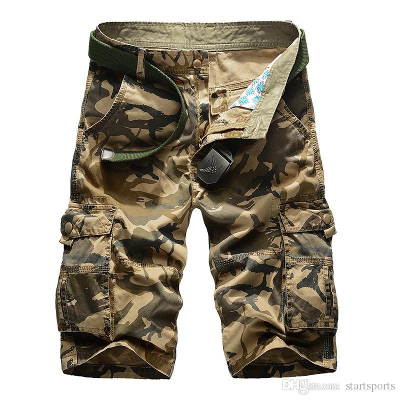 De Camuflaje Para Nuevo Cortos Pantalones Militar Camo 2019 Hombres Ocasionales Shorts Suelto Trabajo Cargo Hombre 6yvIYf7bg